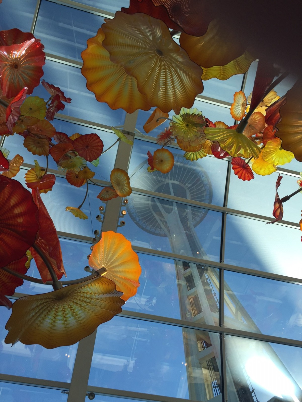Picture of the Day – Space Needle from Chihuly Garden & Glass exhibit