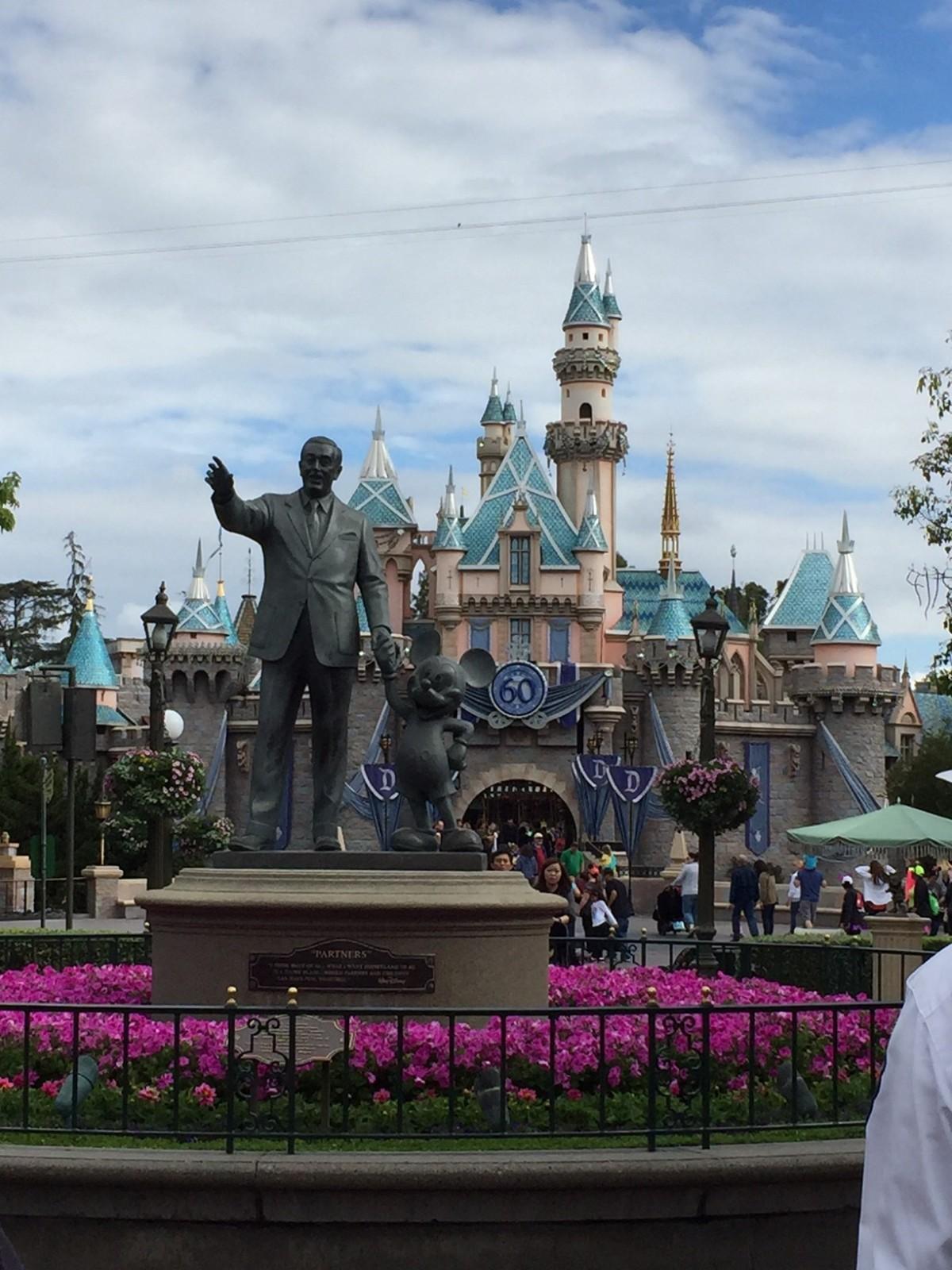 A Disney World nut atDisneyland
