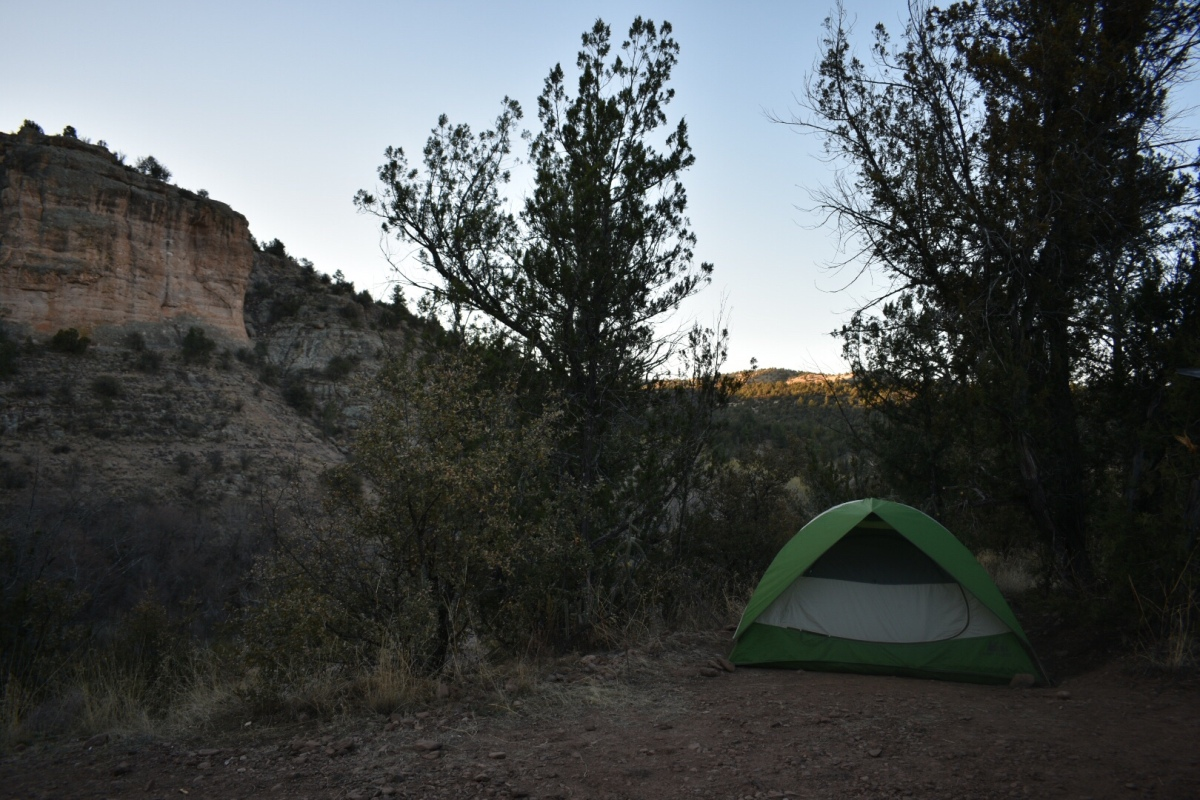 Camping: Forks Campground, Gila National Forest