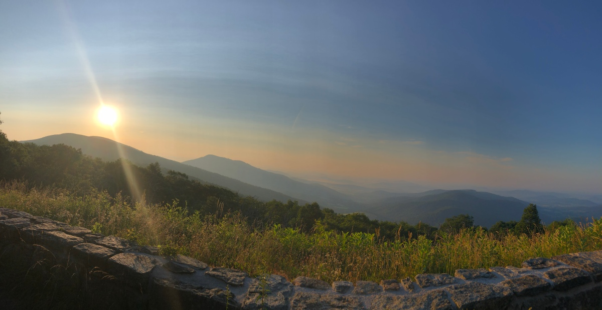Picture of the Day:  Sunrise in Shenandoah NationalPark